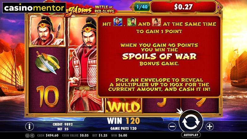 3 Kingdoms Battle Of Red Cliffs Slot Machine