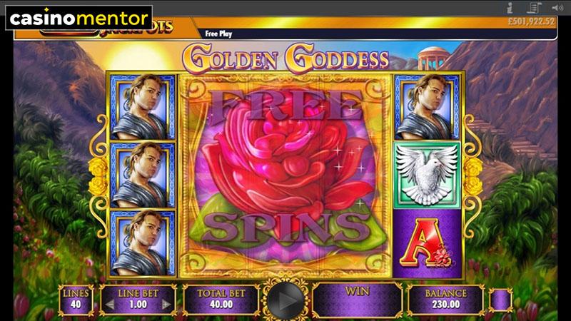 Golden Goddess Mega Jackpots Slot Machine
