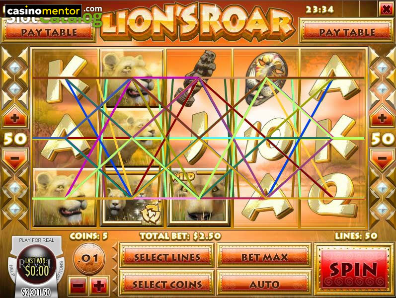Play Lions Roar Slot Machine Free with No Download