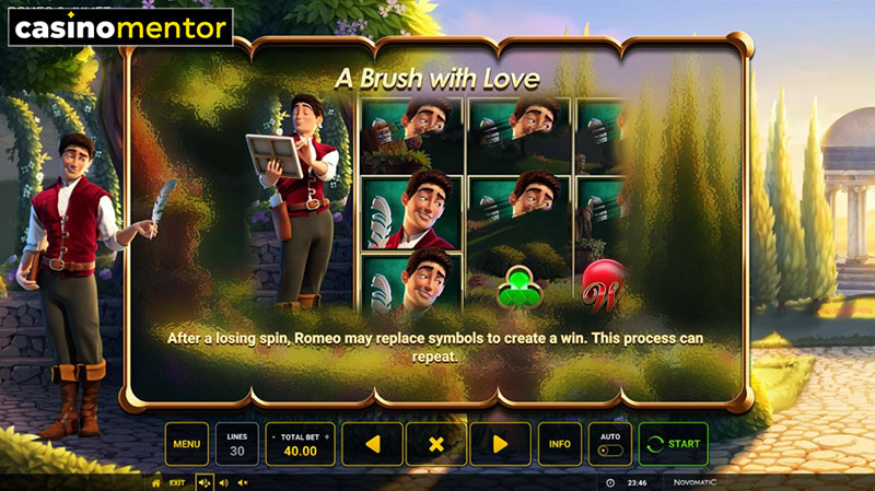 Romeo and Juliet Sealed with a Kiss Slot Machine