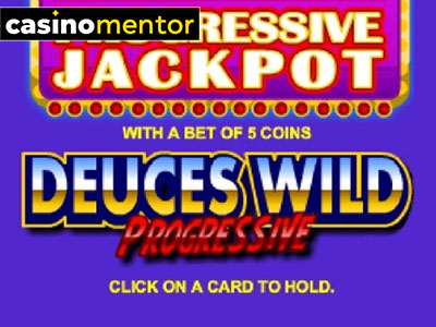 Deuces Wild Progressive Poker