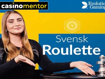 Svensk Roulette Live Casino (Evolution Gaming)