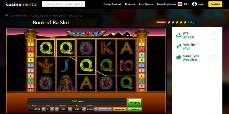 best slot machines to play in 2021 Book of Ra