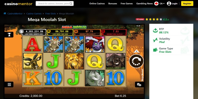 best slot machines to play in 2021 Mega Moolah
