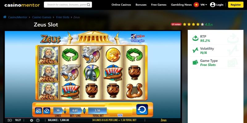 best slot machines to play in 2021 Zeus