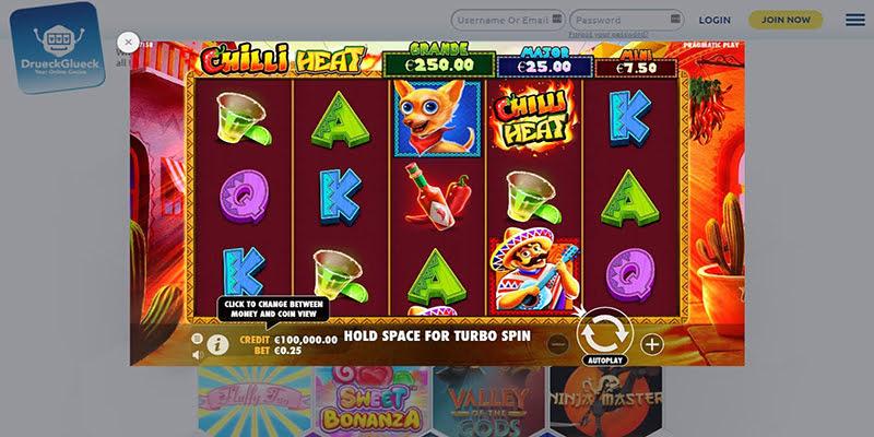 Druckgluck Casino Bonus Code
