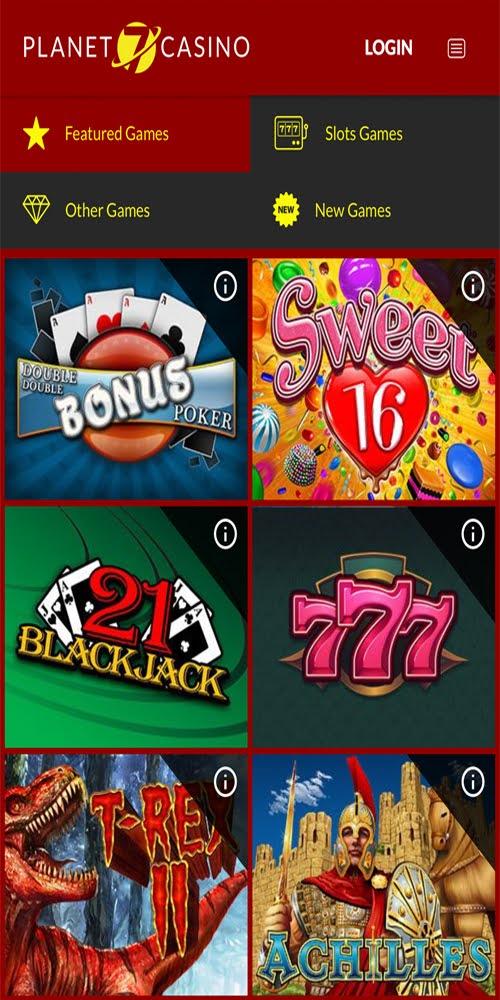 Planet 7 Mobile Casino